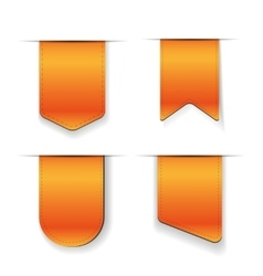 Orange ribbon set vector