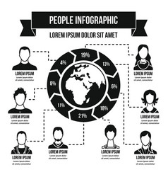 People infographic concept simple style vector