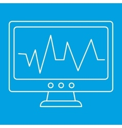 Pulse monitoring thin line icon vector