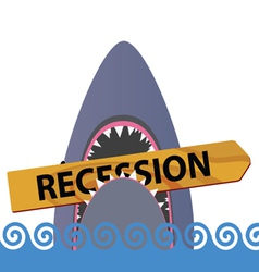 Recession board with shark color vector
