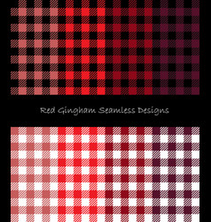 red lumberjack pattern collection vector image