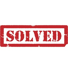 Red stamp solved vector