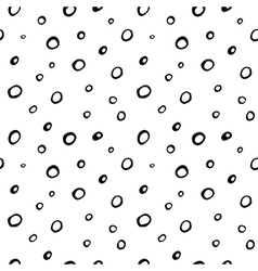seamless hand drawn pattern with circles vector image vector image