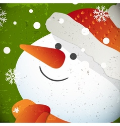 Snowman for Christmas design vector image vector image