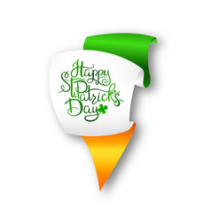 st patrick s day lettering vector image vector image