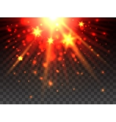 Star explosion on transparent background vector image