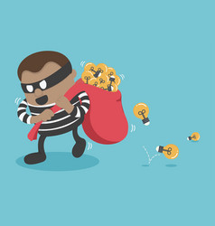 stealing a businessman good idea vector image vector image