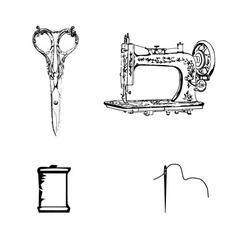 Textile materials vector