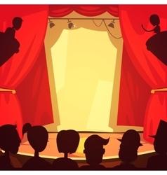 Theater scene vector