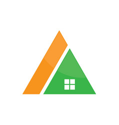 Triangle roof house logo image vector