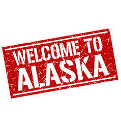 Welcome to alaska stamp vector