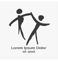 Dancing people hand drawn vector