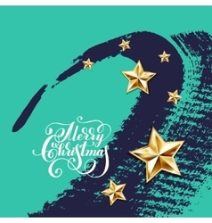 Holiday background with golden stars and vector