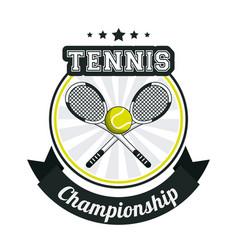 Tennis sport championship banner image vector