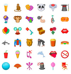 Monkey icons set cartoon style vector