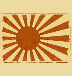 vintage japan flag landscape background vector image