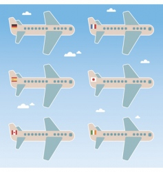 airplane flags vector image