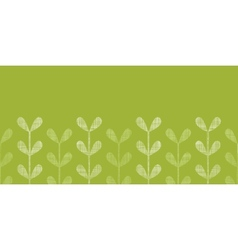 Abstract textile green vines leaves horizontal vector