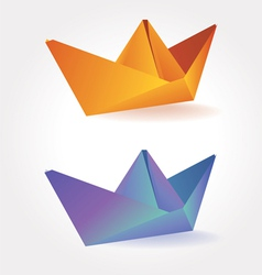 Colorful paper boats vector