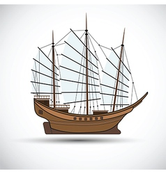 Sailing ship3 vector