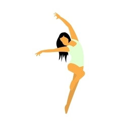 Unique dance flat icon vector