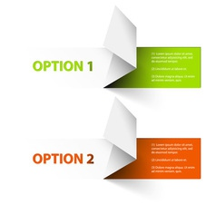 Options red green hranate vector