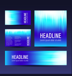 abstract gradient backgrounds set vector image vector image