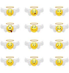 Angels smilies vector image