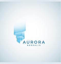 aurora borealis abstract sign emblem or vector image