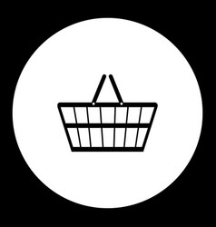 Black hand shopping cart simple isolated icon eps vector