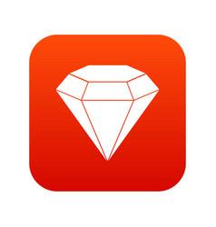brilliant gemstone icon digital red vector image vector image