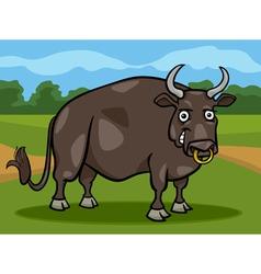 bull farm animal cartoon vector image