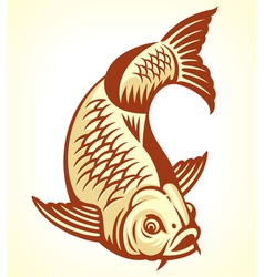 Carp Fish Cartoon vector image vector image