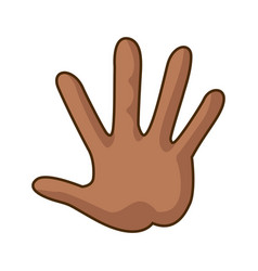 Cartoon hand showing the five fingers vector