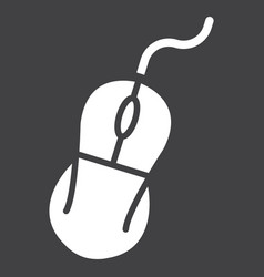 Computer mouse solid icon click and device vector