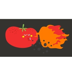 Crazy vegetable vector image