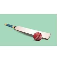 Cricket ball and bat vector