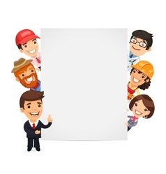 Diverse Professional Presenting Empty Vertical vector image vector image