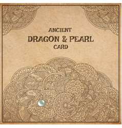 Dragon parchment card vector