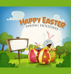 Easter holidays background vector