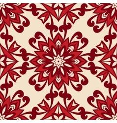 floral retro vintage seamless pattern vector image