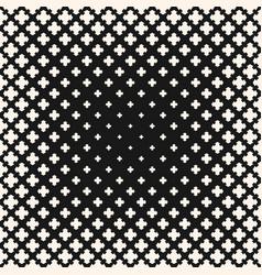 halftone seamless texture floral geometric cross vector image