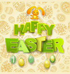 Happy easter greeting background vector