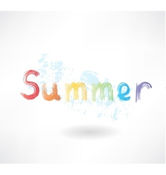 lettering summer grunge icon vector image