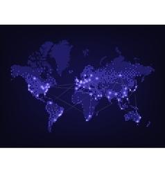 Night world map vector image