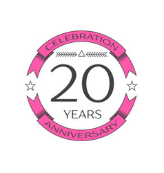 Realistic twenty years anniversary celebration vector