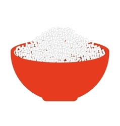 rice dish food isolated icon vector image