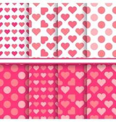 set of seamless romantic love patterns vector image vector image