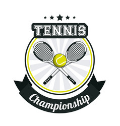 Tennis sport championship banner image vector