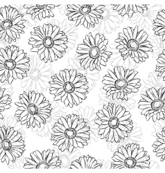 Vintage floral print seamless background vector